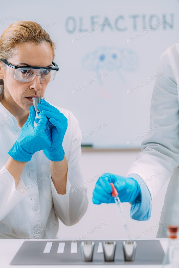 Olfaction or sense of smell research in olfaction Laboratory.