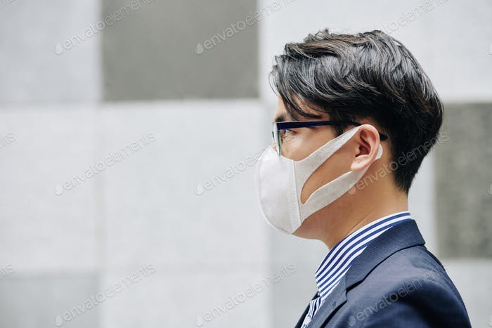 Man in protective mask