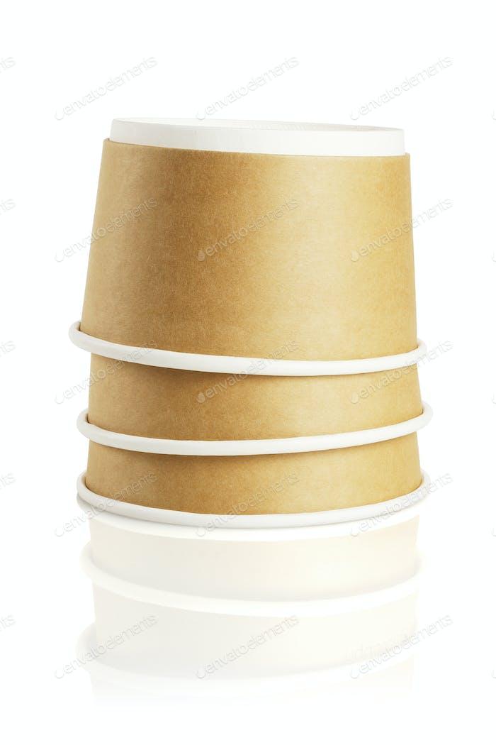 Three Paper Bowls