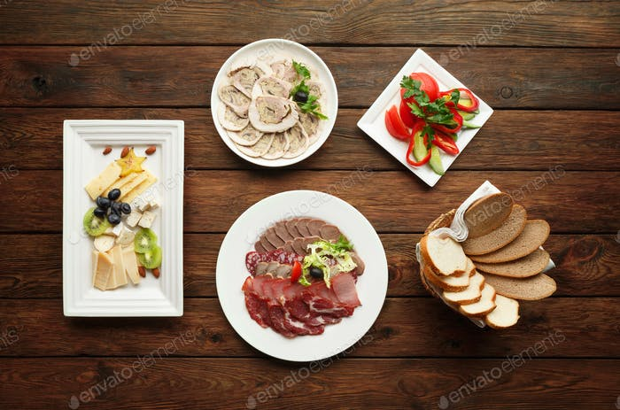 Catering - meat assortment plate