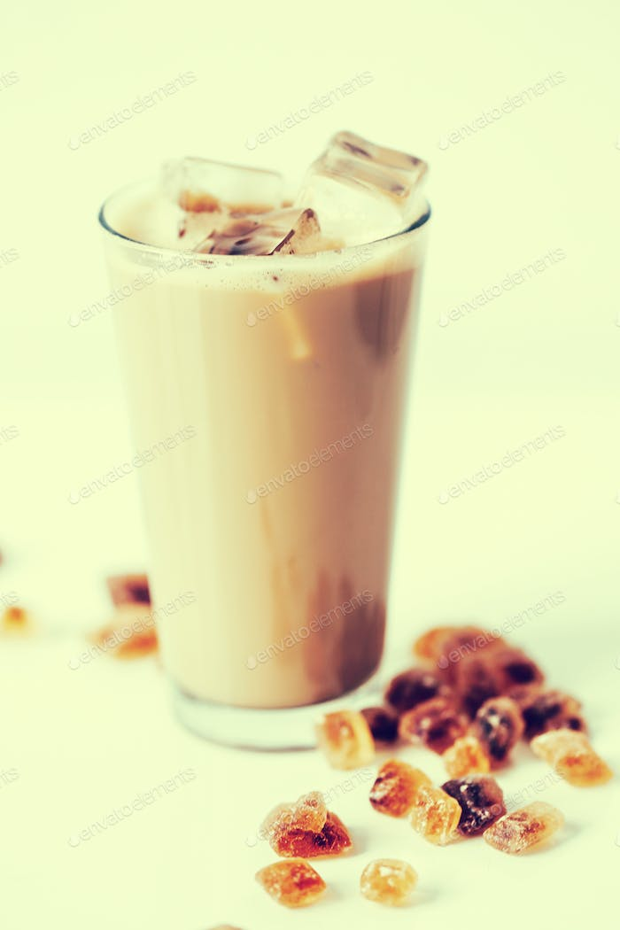 Latte with caramel