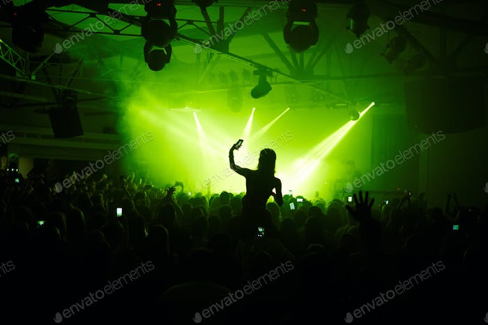 At concert