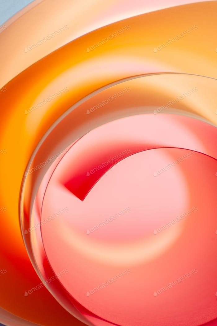 Background of multicolored rounded elements in pink and orange c