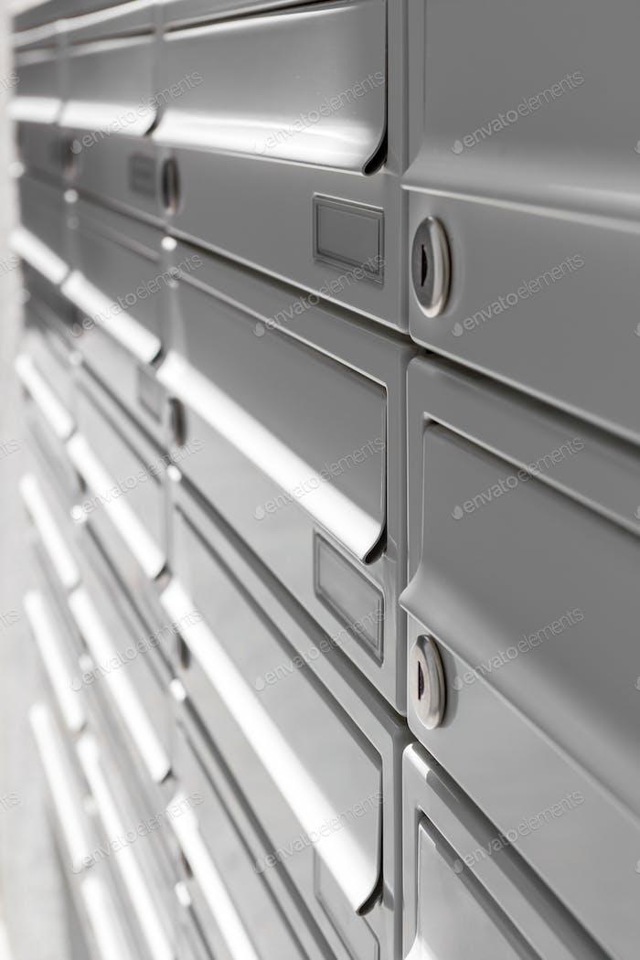 New aluminum mailbox