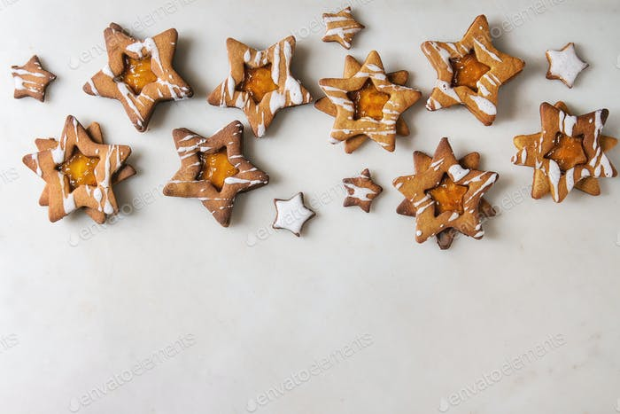 Weihnachtsstern-Form Zuckerplätzchen