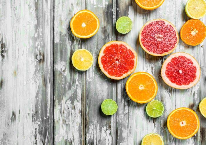 Juicy sweet citrus.