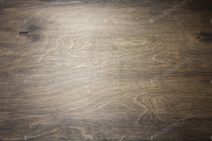 leere hölzerne Tischplatte im Winkel