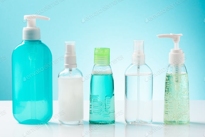 Hand Sanitizer Gel Products for Personal Hand Hygiene in Pandemic Coronavirus Outbreak