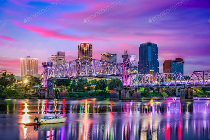 Little Rock Arkansas Skyline