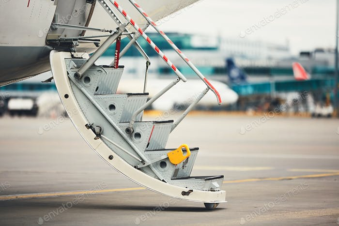 Steps to the plane