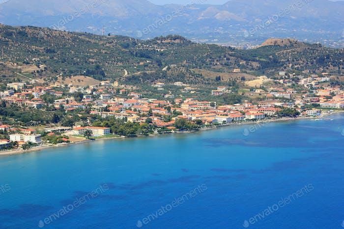 Aerial view on Zakynthos Greece