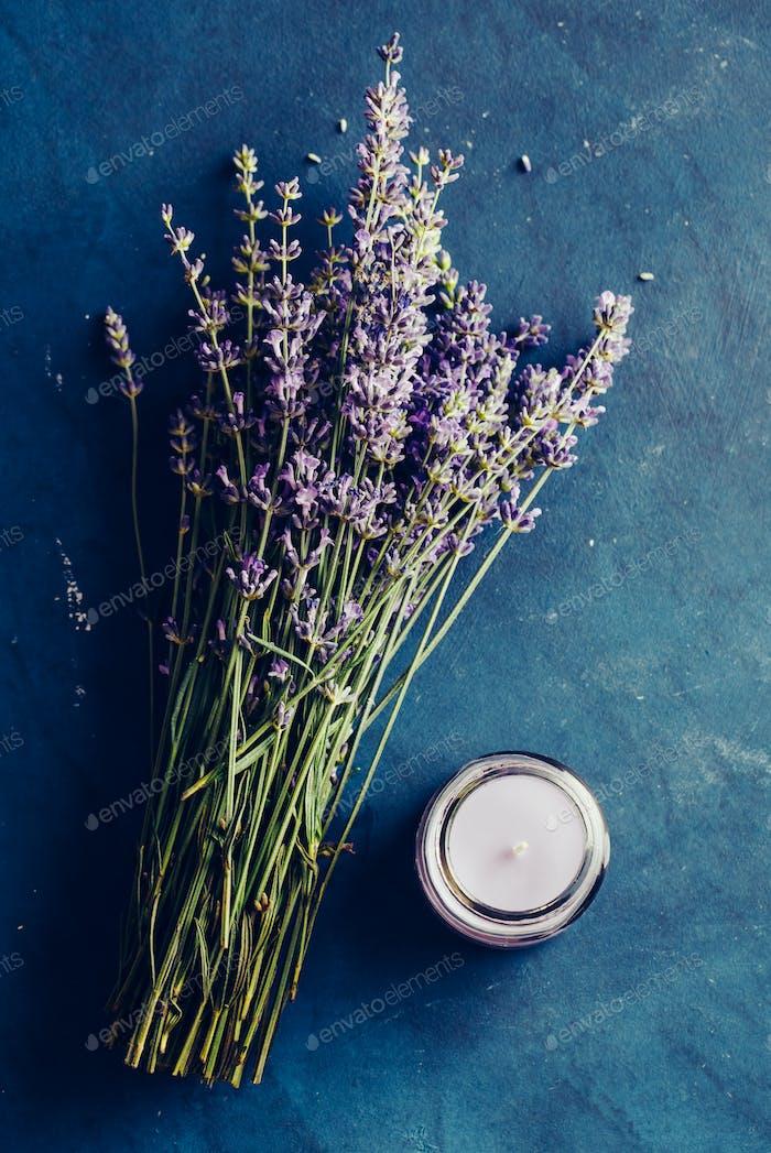 Fresh bundle of lavender