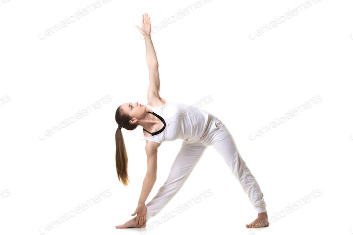 Yoga Trikonasana pose