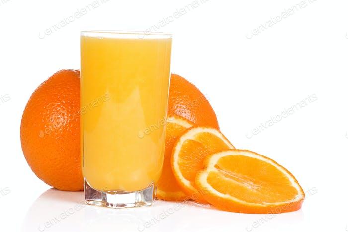 tasty orange on white