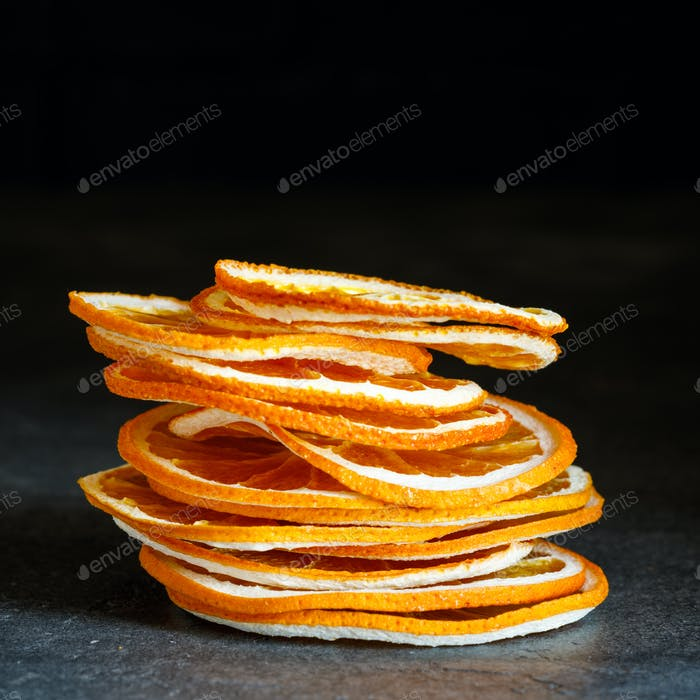 Natural Oranges Dried Sliced Candied Fruits Citrus Caramelized