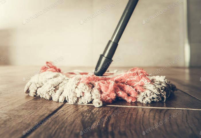 Cleaning Mop Closeup