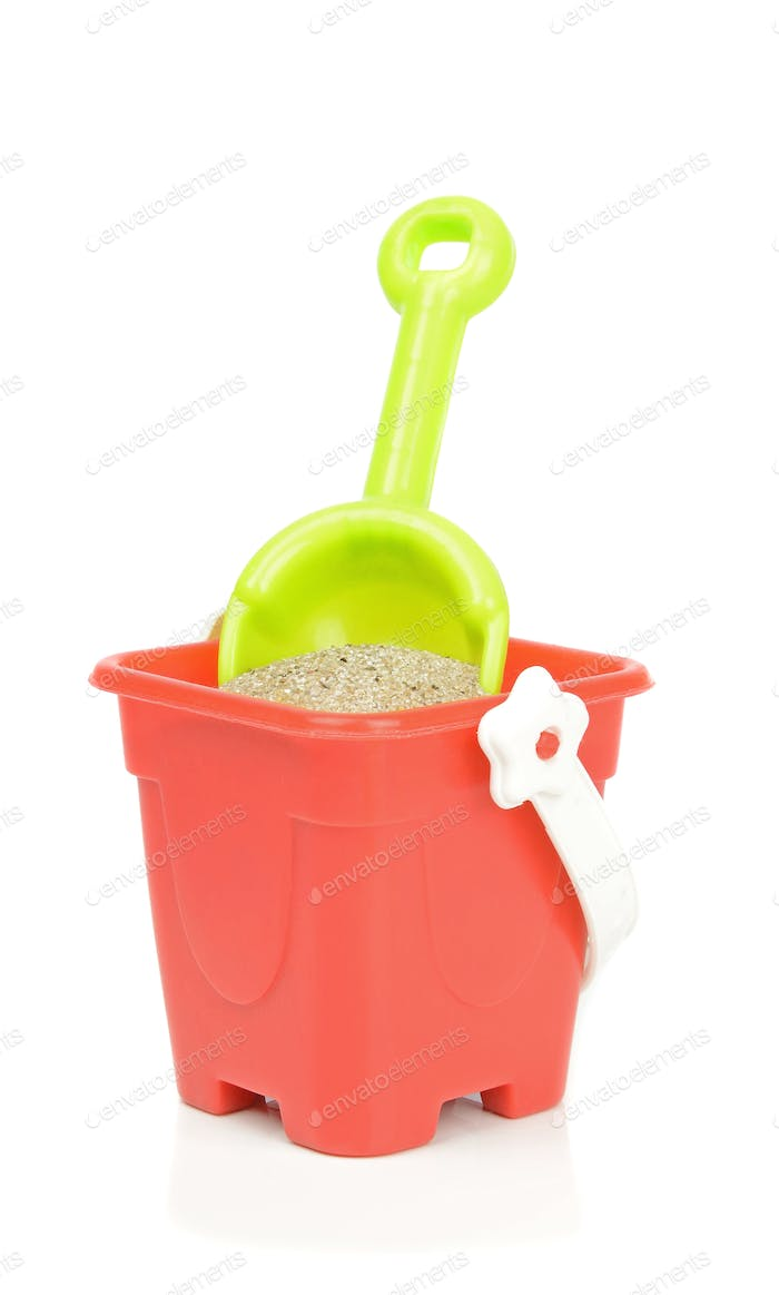 A Toy Bucket and Spade