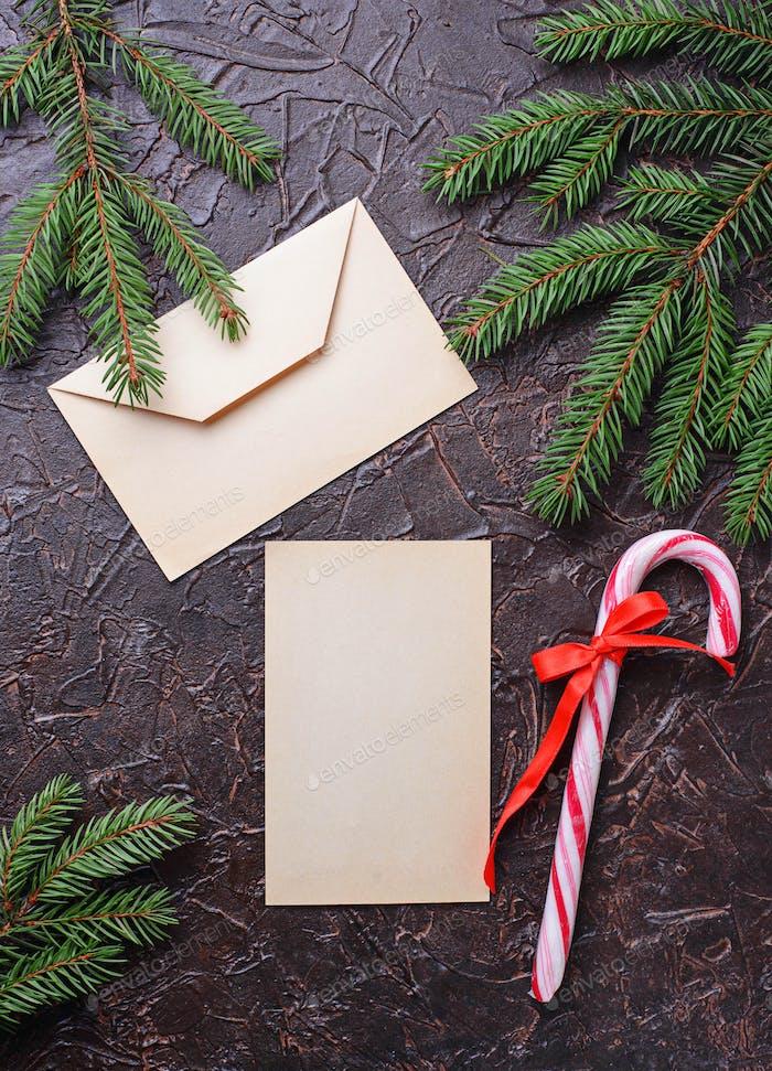 Geschenkboxen, Zuckerrohr und Brief.