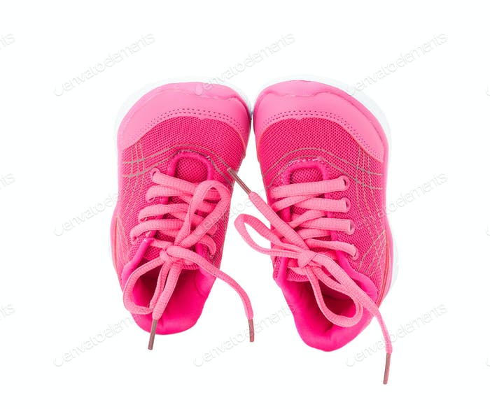 Thumbnail for Pink training shoes for girls.