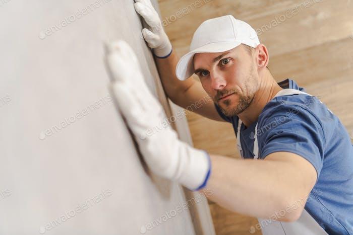 Checking Ceramic Tiles Wall