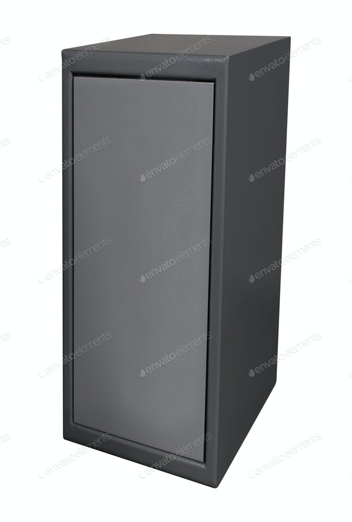 The metal safe isolated