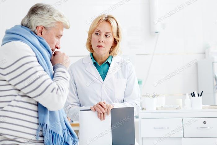 Patient mit Grippe