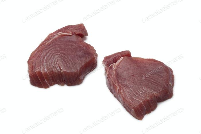 Frische Thunfischsteaks