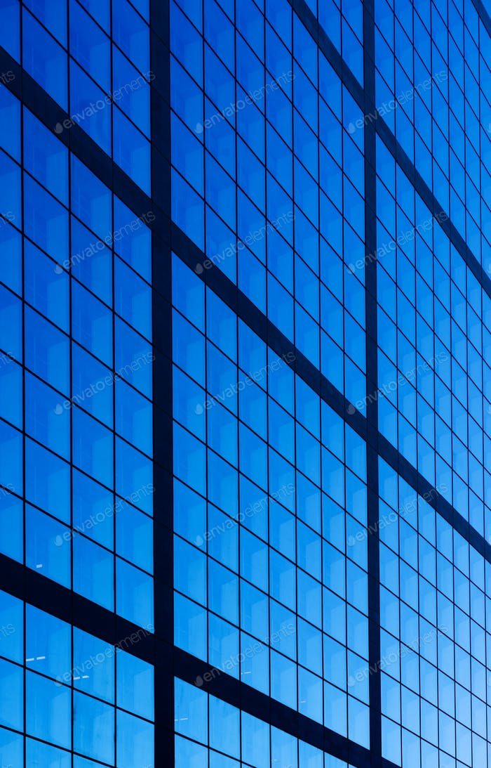 Finanzzentrum mit Wolkenkratzern