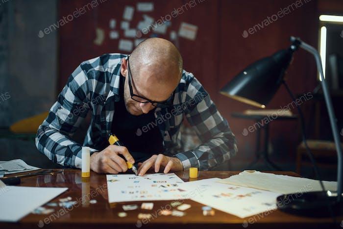 Maníaco secuestrador manos corta cartas