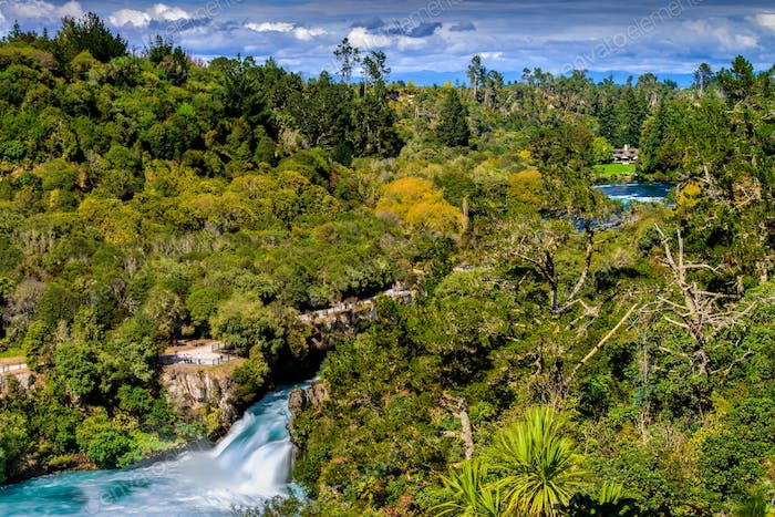 Huka Falls and Waikato River