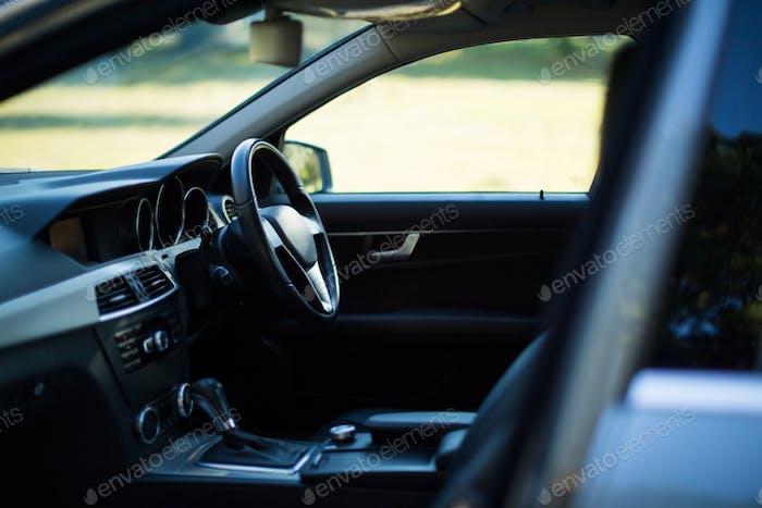 Interior of empty car