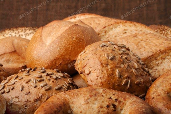 Assortment of breads still life