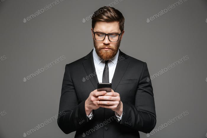 Portrait of a confident young businessman dressed in suit