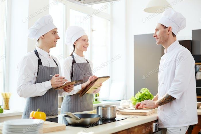 Listening to chef advice