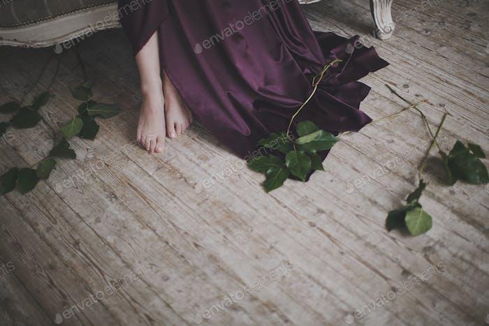 Women's beautiful barefoot feet