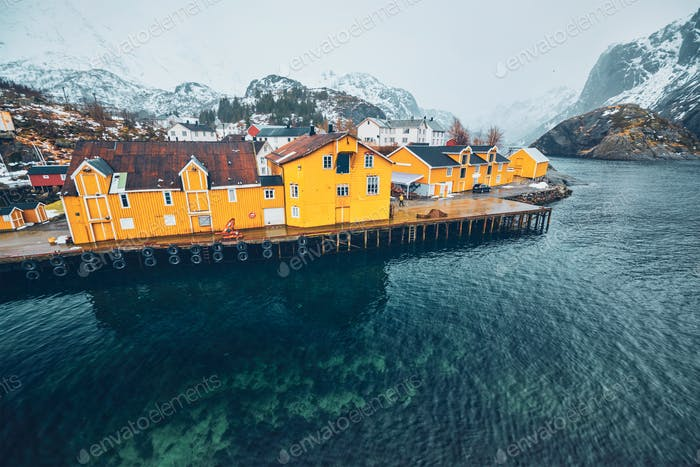 Nusfjord  fishing village in Norwa