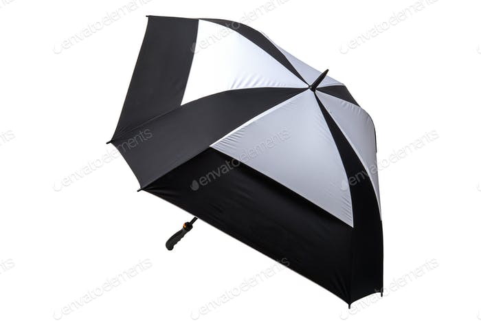 Golf Umbrella Black and White Isolated
