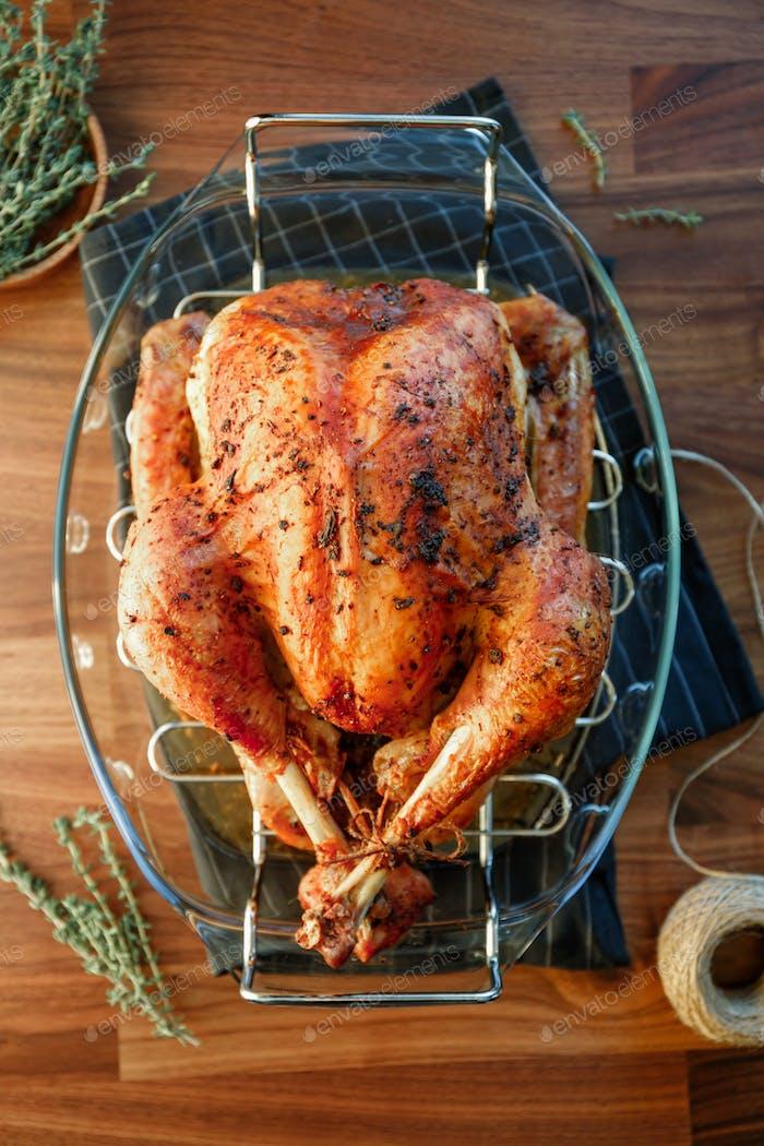 Roasted whole turkey