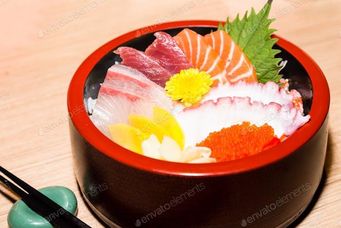 Shiraishi japonés manjar marisco crudo