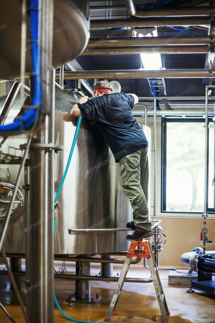 Man working in a brewery