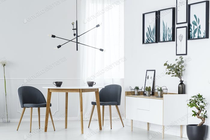 Dining table and posters