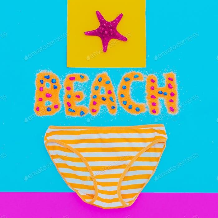 Beachwear Panties striped Summer time. Minimal art