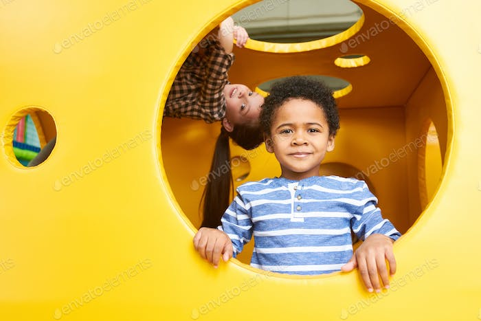 African-American Boy in Play Center