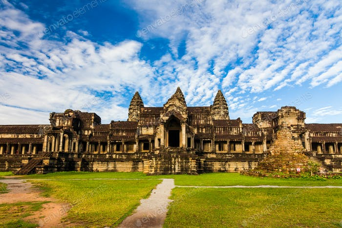 Ancient temple against a beautiful sky. Angkor Wat, Cambodia.