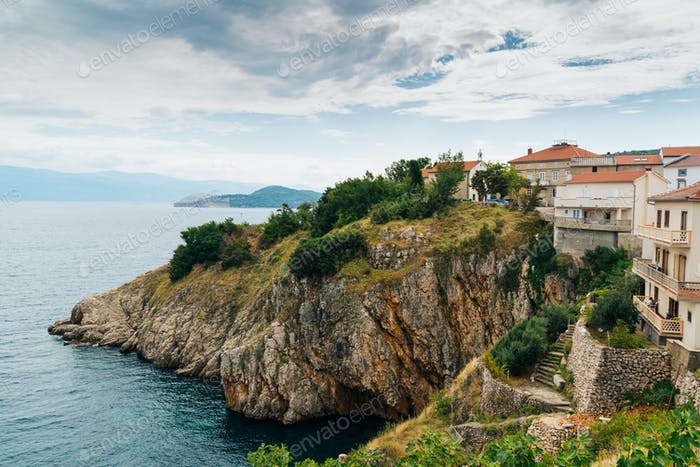 Vrbnik Croatia, Krk island landscape photo