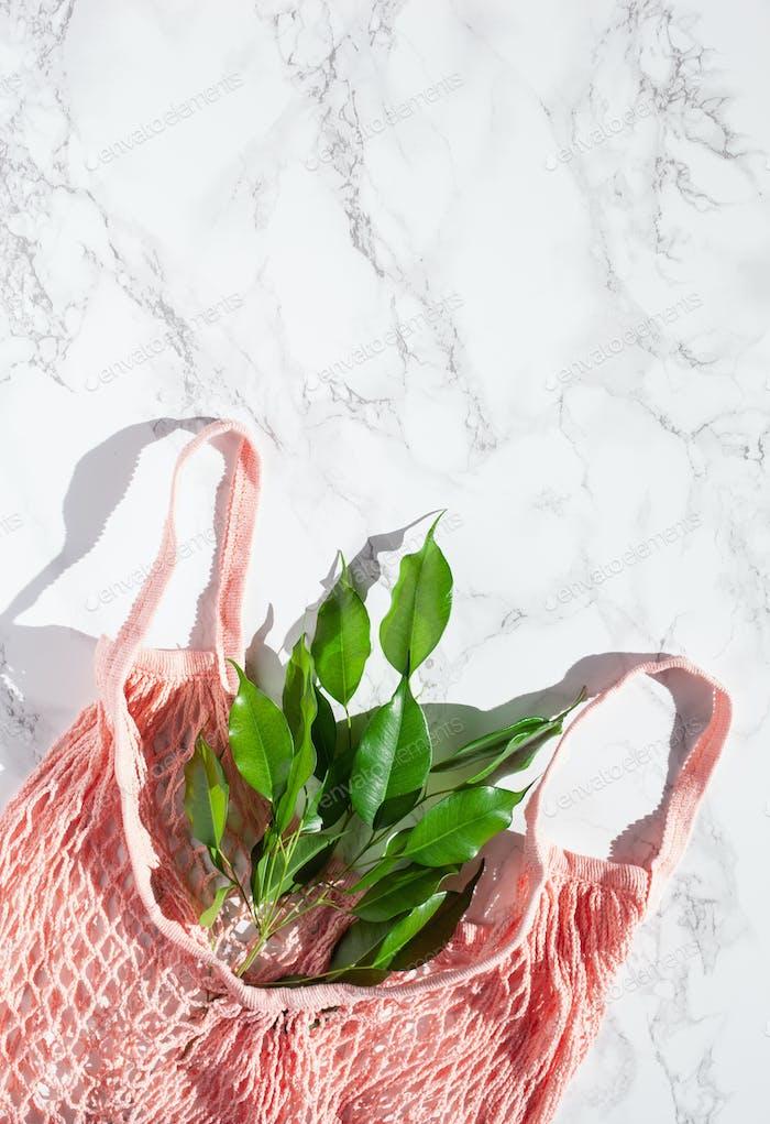 Wiederverwendbare Netz-Baumwolle Einkaufstasche, Kunststoff frei Zero Waste Konzept