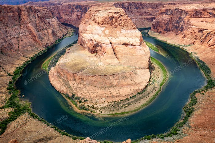 Horseshoe bend, Colorado River meander, Arizona United States