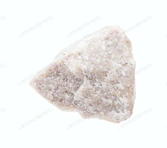 unpolished dolomite rock isolated on white