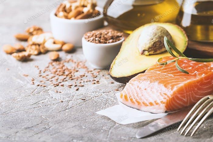 Gesunde Fette in der Ernährung.