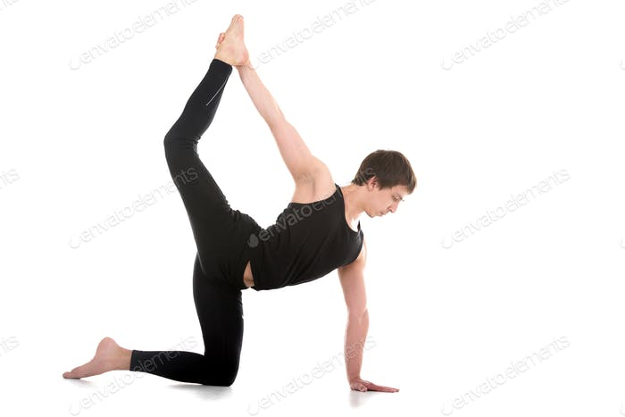 Variation of Chakravakasana Pose